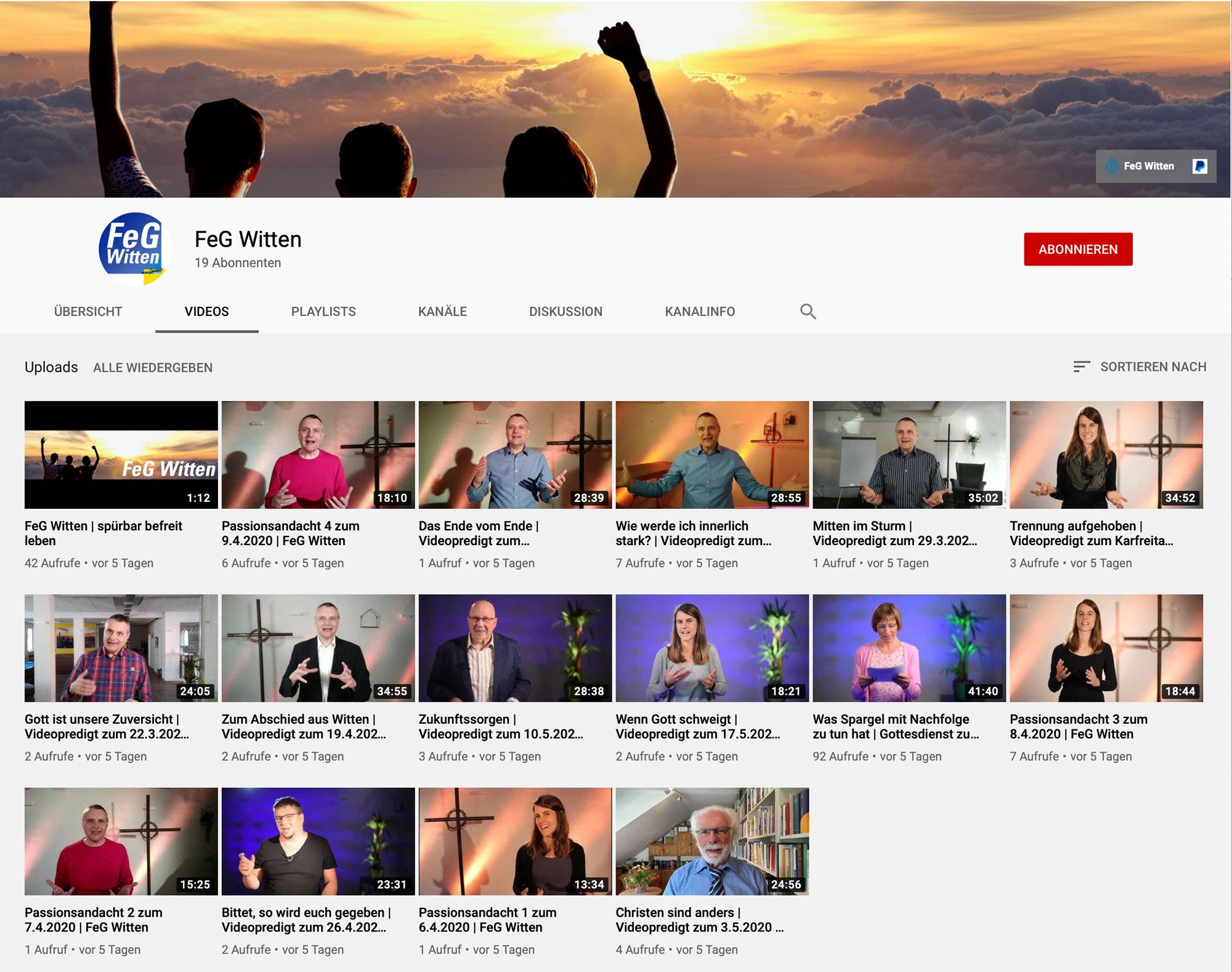 Auch bei YouTube